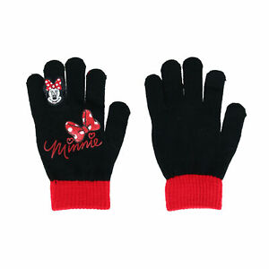 New Textiel Trade Girl's Minnie Mouse Winter Glove with Embroidered Finger