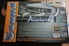 Creative Sound Blaster Audigy Pro 4 PCI SB0380 Sound Card 7.1 113 SNR 4 DAC Chip