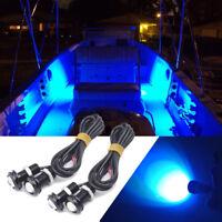 4x blue LED boat light waterproof Deck Storage outrigger spreader diving light