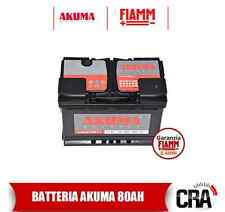 BATTERIA AUTO AKUMA KOMFORT+ = FIAMM 80 AH 12V 680A EN ORIGINALE NUOVA