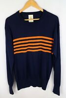 Gant by Michael Bastian Men Jumper Casual Crew Neck Silk Wool Cotton Blue size L