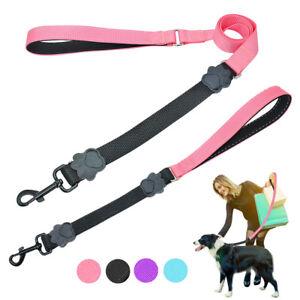 Nylon Dog Leash Handle Leash with Stretch Elastic Bungee Soft Padded Handle Lead