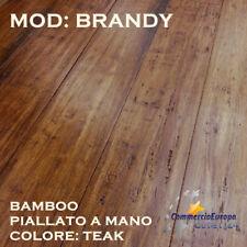 PARQUET IN BAMBOO PIALLATO A MANO COLOR TEAK 1850x142x14 SPESSORE 4mm BRANDY