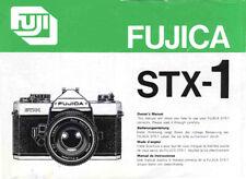 Fuji Fujica STX-1 Instruction Manual original multi-language