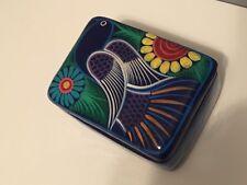 More details for exotic bird terracotta pottery trinket box