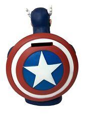 Captain America Coin Bank Plastic Piggy Figure Marvel Avenger Comics USA Shield
