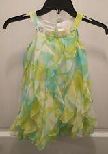 biscotti dress 4 green  aqua  ruffle cute!