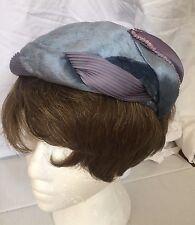 Vintage 20s 40s Hat Velvet Sequins Art Deco Headpiece Flapper Glam