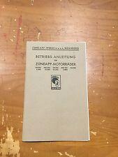 Zundapp Operating Instructions 1936 All Models - German Reprint [3-75]