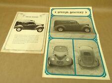 Vintage Bohemian Glass Works Brochure Book Volkswagen VW Beetle Car Kit 1977