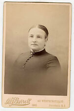 Cabinet Photo - Providence, Rhode Island-Older Lady Hair Parted in Middle