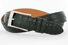 Genuine American Alligator black matte finish Custom handmade belt (Size 32-44)