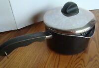 Revere Ware Spectrum Black Nonstick Double Spout 2 1/2 qt Sauce Pan w/Drain Lid
