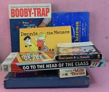Vintage Card Game Lot_Scrabble Deluxe Edition_Booby-Trap_Chessmen.