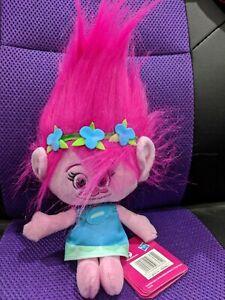 "TROLLS plush Poppy 10"" soft toy Hug 'N Plush DreamWorks movie"