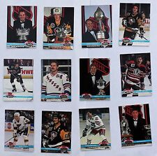 1991-92 Topps Stadium Club Members Only; Gretzky, Lemieux, Roy, Hull, Messier