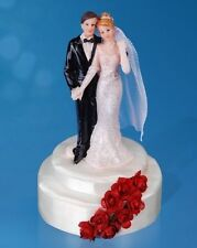 """Kuchendeko """"Brautpaar auf Podest mit roten Rosen"""" - Tortendeko, Torte, Deko"""