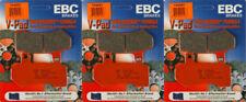 EBC V Series Front & Rear Brake Pads Combo Set - 2008-2017 HD FLH FLT _ FA409V