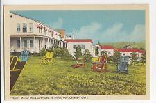 Hôtel Manoir des Laurentides ST-DONAT Quebec Canada 1940s PECO Postcard PGV13