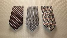 Jeffrey Banks, Today's Man, Conte di Milano Tie Collection (Lot of 3)- EXCELLENT