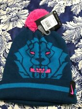 Nike LEBRON JAMES Force Winter Hat Beanie Pom Blue Pink YOUTH Size 8/20