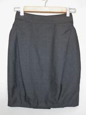 High Waist Knee-Length Solid Skirts for Women