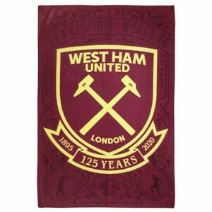 West Ham United FC Official Fleece Blanket Throw The Hammers Present Gift
