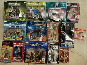 WWE Figure Lot of 20 NEW Sealed JAKKS Pacific Rare WWF Vintage WCW NO RESERVE
