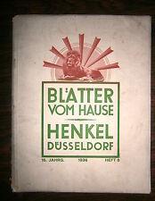 BLATTER VOM HAUSE - HENKEL DUSSELDORF # 1936