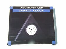 Pyramid Shaped Abstract Art Quartz Clock BNIB