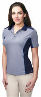 Tri-Mountain Women's Moisture Wicking Short Sleeve Fashion Polo T-Shirt. KL340