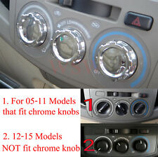 Chrome Trim Knobs Buttom Kun Switch For Toyota Hilux Sr Mk6 05-11 Air Condition