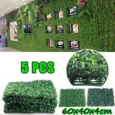 60x40cm Plant Artificial Mat Greenery Wall Hedge Grass Fence Foliage Panel Decor