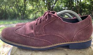 Cole Haan Original Long Wingtip Maroon Suede Oxfords Men's Shoe Sz 10 M C11217