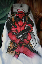 1x Custom Deadpool Airbrushed Seat Cover! Hand Painted Throw over