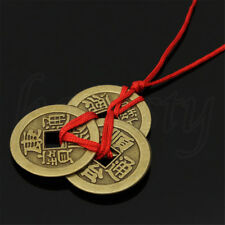 2x Chinese FengShui Luck Faith Ancient Coin Necklace Wealth Health Exorcise-evil