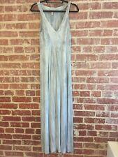 Pink Lotus Athleta Maxi Dress Gray Blue Tye-Dye Size Small