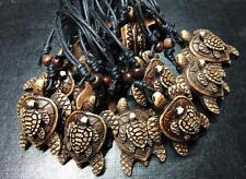 12 pcs Imitation Bone Resin Double Tortoise Turtle Charms Surfer Necklace