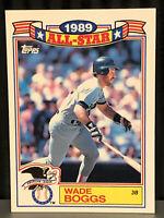 1990 Topps Wade Boggs baseball card Boston Red Sox 1989 All Star HOF #15 Nrmt-Mt