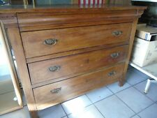Commode ancienne, commode merisier, commode Louis Philippe, commode marquetée