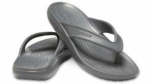 NWT Crocs Unisex Classic II Flip Flop Sandals Slate Grey Men's 10 Women's 12