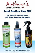 Anthony s Leatherworks Total Leather Care Kit for Motorcycle Leathers
