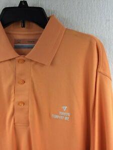 NWT Cutter & Buck CB ProTec Orange Polo Shirt Men's M - Hansen Company Inc.