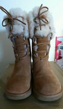 UGG AUSTRALIA FABULOUS CHESTNUT LACE UP MONTCLAIR BOOTS SIZE 5.5  1