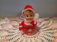 Vintage Christmas Pixie Elf Satin Ball Ornament, Japan