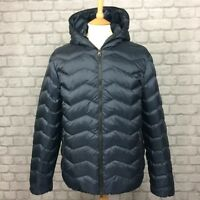 EA7 EMPORIO ARMANI MENS UK L BLUE MOUNTAIN DOWN HOODED COAT JACKET RRP £295