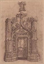 G1792 France - Abbaye de Chanteuges - Une porte de la chapelle des abbés - Print