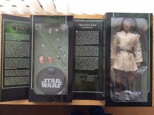 "Sideshow Star Wars Qui-Gon Jinn 1:6 (12"") Sixth Scale Figure Order Of The Jedi"