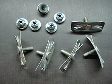 5 pcs 1957 1958 Plymouth hood moulding clips & mastic sealer nuts NOS 6010110