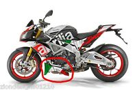 Aprilia Tuono V4 1100 Factory custom Italian flag belly pan graphics decals  set
